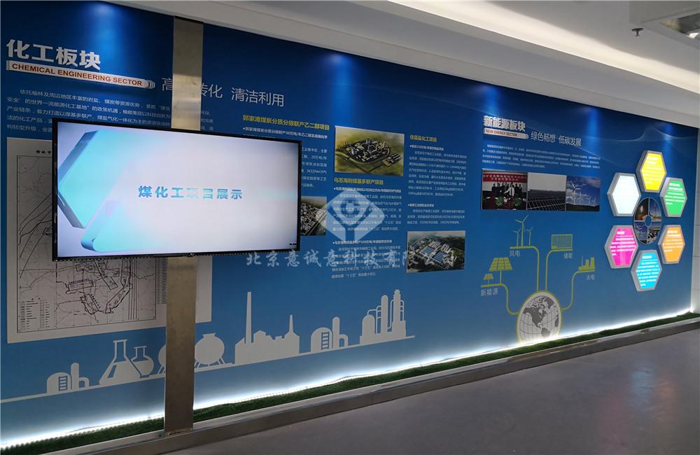 陕西能源集团展厅电动滑轨屏